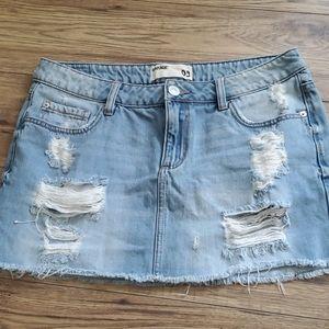 Size 9 garage denim skirt